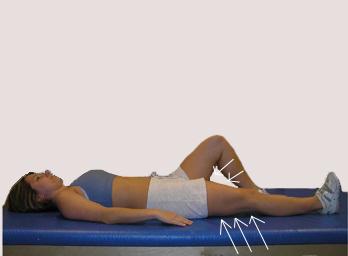 Apretamdo los músculos del muslo