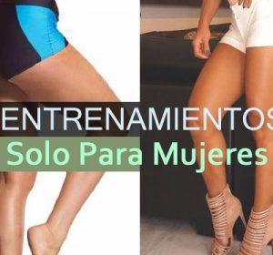 Entrenamientos para piernas en casa (solo mujeres)