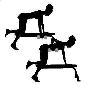 triceps con mancuernas