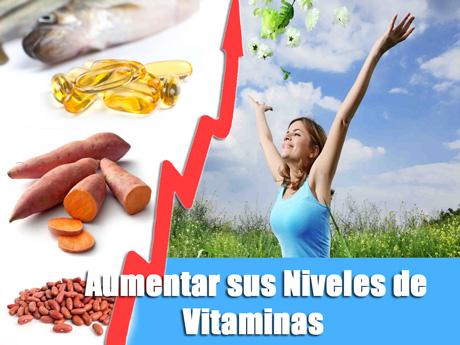 aumentar sus niveles de vitaminas