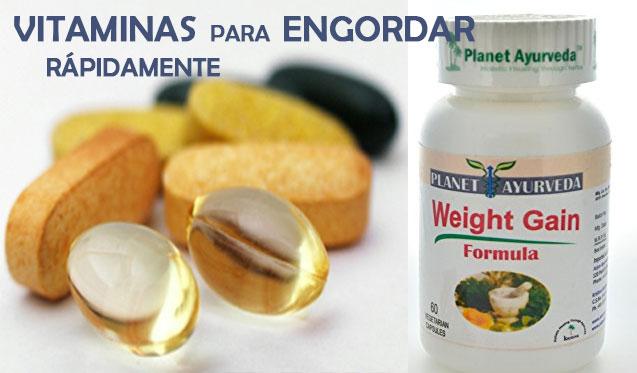 Vitaminas para Engordar Rápidamente, Utilízalos Sabiamente