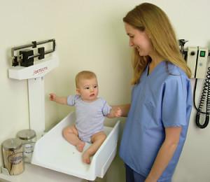 aumento de peso en bebés